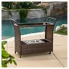 Bahama Wicker Bar Cart - Christopher Knight Home - image 3 of 4