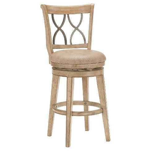 Reydon Swivel 30 Barstool Woodnatural Hillsdale Furniture Target