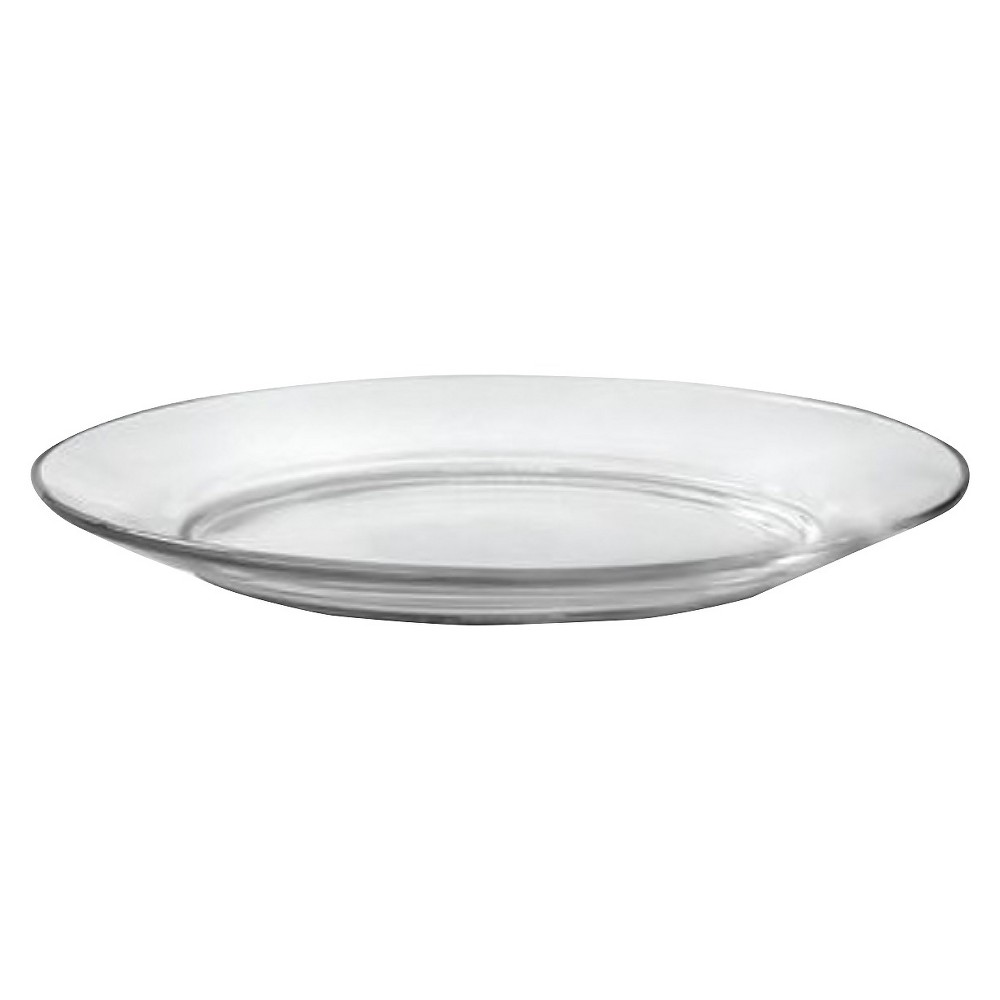 "Image of ""Duralex - Lys Glass Salad Plate 7.5""""x7.5"""" Set of 4, Clear"""