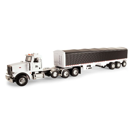 Big Farm Peterbilt Model 367 with Grain Trailer image number null
