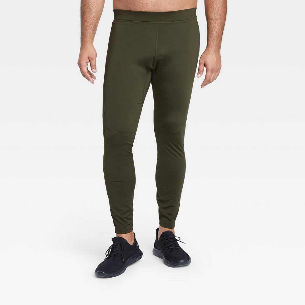 Men 39 S Run Tights All In Motion 8482 Olive Green M