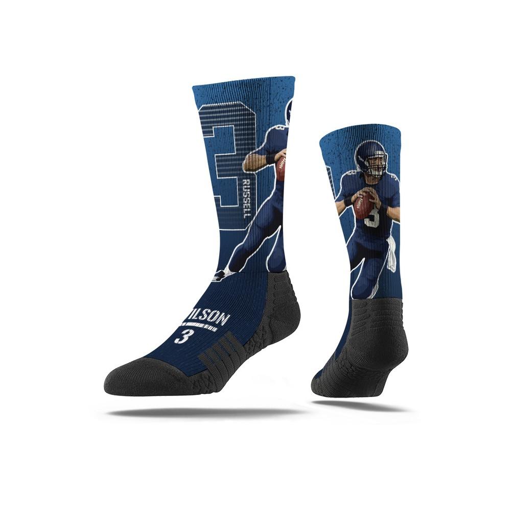 NFL Seattle Seahawks Russell Wilson Premium Player Socks - M/L, Men's