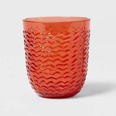 13oz Plastic Wave Texture Short Tumbler Orange - Opalhouse™