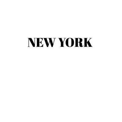 New York Hardcover White Decorative Book for Decorating Shelves, Coffee Tables, Home Decor, Stylish World Fashion Cities Design