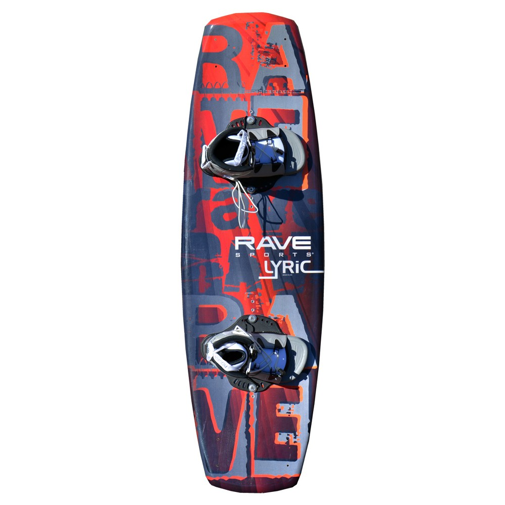 Rave Sports Lyric Wakeboard with Advantage Boots, Multi-Colored