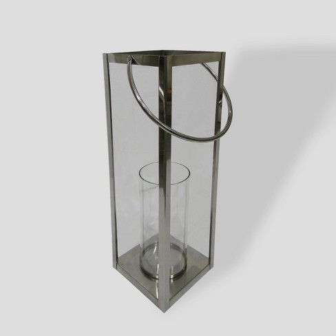 "22"" Stainless Steel Square Outdoor Lantern - Threshold™ - image 1 of 1"