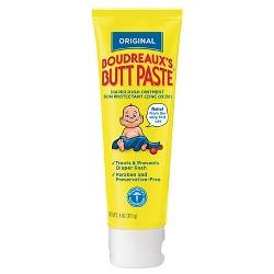 Boudreaux's Butt Paste Diaper Rash Ointment - Original - Paraben and Preservative Free, 4oz Tube