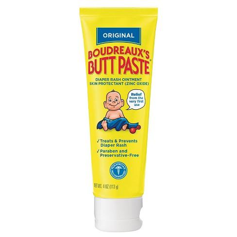 Boudreaux's Butt Paste Diaper Rash Ointment - Original - Paraben and Preservative Free, 4oz Tube - image 1 of 3