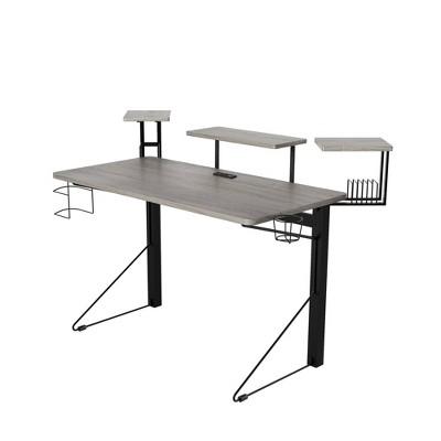 Carnegie Computer Gaming Desk Black/Gray - Jamesdar