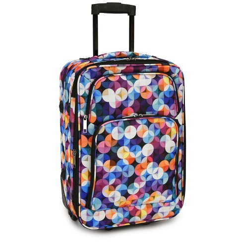 """Elite Luggage 20"""" Carry On Rolling Suitcase - Gem Bubbles - image 1 of 4"""