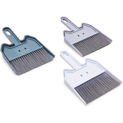 """Okuna Outpost 3 Pack Mini Broom and Dustpan Set with Hand Broom for Car & Office Desktop, 8.7 x 6.7 x 1.5"""""""