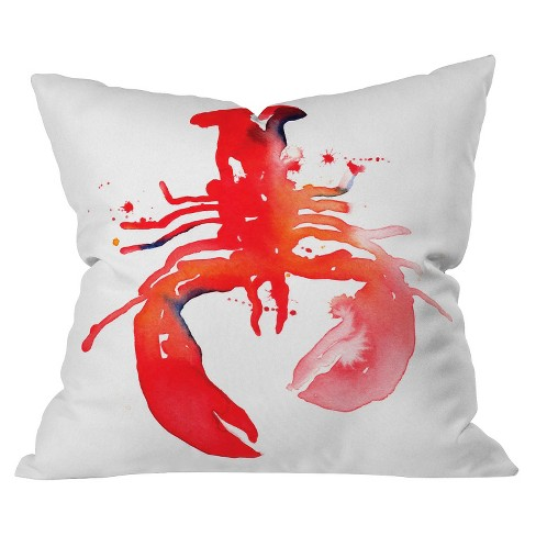 Red Lobster Throw Pillow - Deny Designs - image 1 of 1