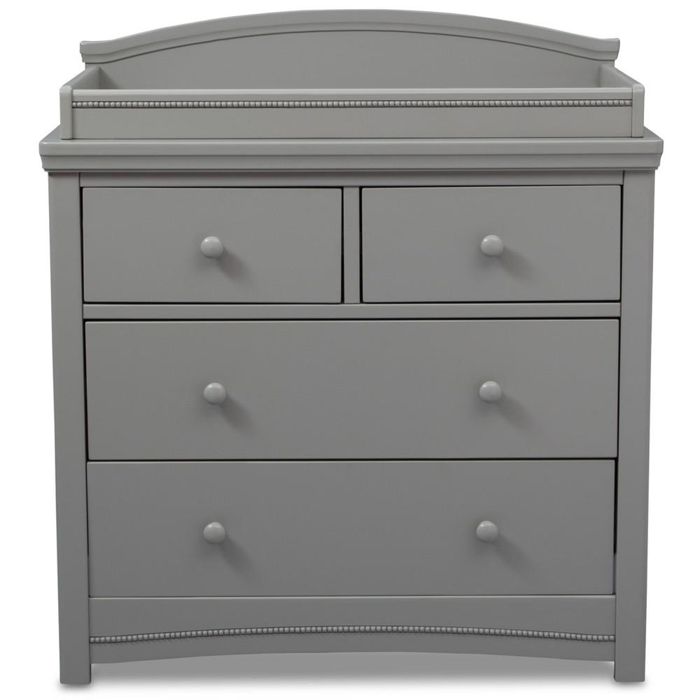 Simmons Kids SlumberTime Emma 4-Drawer Dresser -Gray, Gray