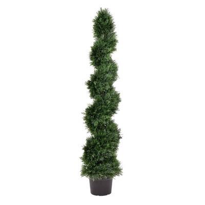 """60"""" Artificial Cedar Spiral On Pot (UV) - Vickerman"""