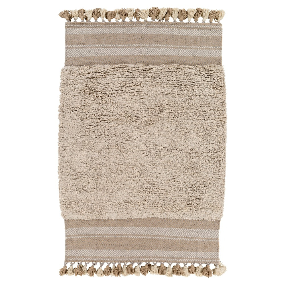 Light Gray Abstract Woven Accent Rug - (4'X6') - Surya