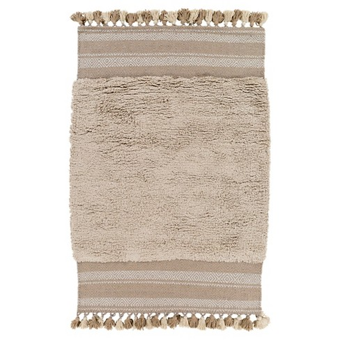 Light Gray Solid Woven Accent Rug - (2'X3') - Surya - image 1 of 3