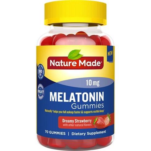Nature Made Melatonin 10 mg Gummies - Dreamy Strawberry - 70ct - image 1 of 3