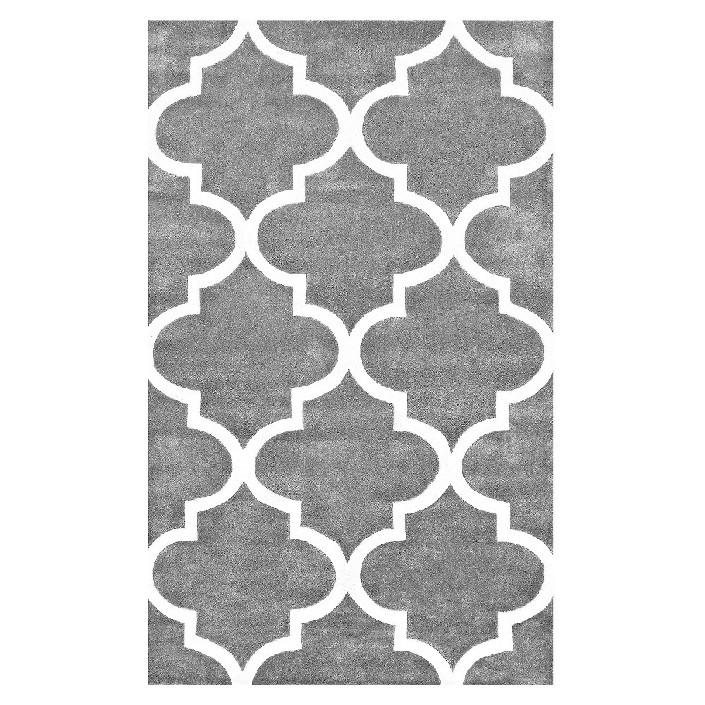 nuLOOM Polyester Hand Tufted Fez Area Rug - Gray (8' 3 x 11'), Grey