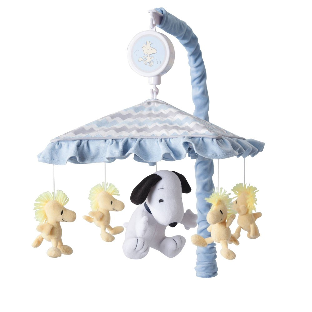 Image of Lambs & Ivy Disney Baby Musical Baby Crib Mobile - My Little Snoopy, Infant Boy's