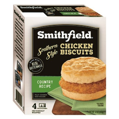 Smithfield Southern Style Country Recipe Frozen Chicken Biscuits - 12oz