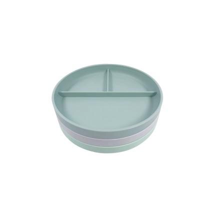 Divided Plate - 3pk - Cloud Island™ Green/Gray/Light Green