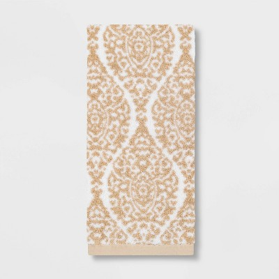 Performance Hand Towel Canvas Ogee Tan - Threshold™
