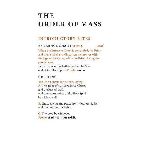 Order of Mass Hymnal Insert - (Paperback) - image 1 of 1