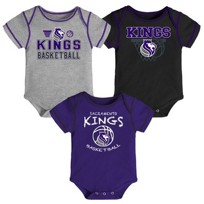 NBA Sacramento Kings Baby Boys' Onesies Bodysuit 3pk