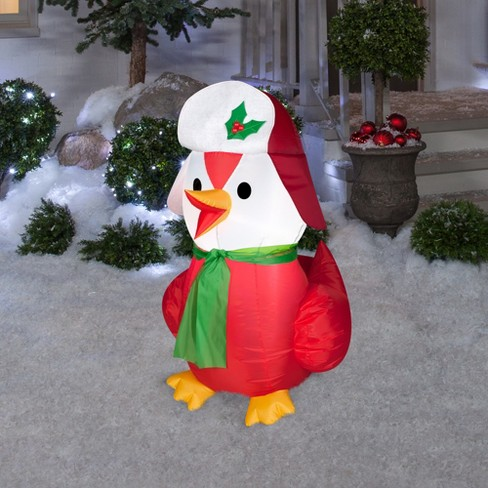 holiday inflatable decoration red bird with hat and scarf target - Red Bird Christmas Tree Decorations