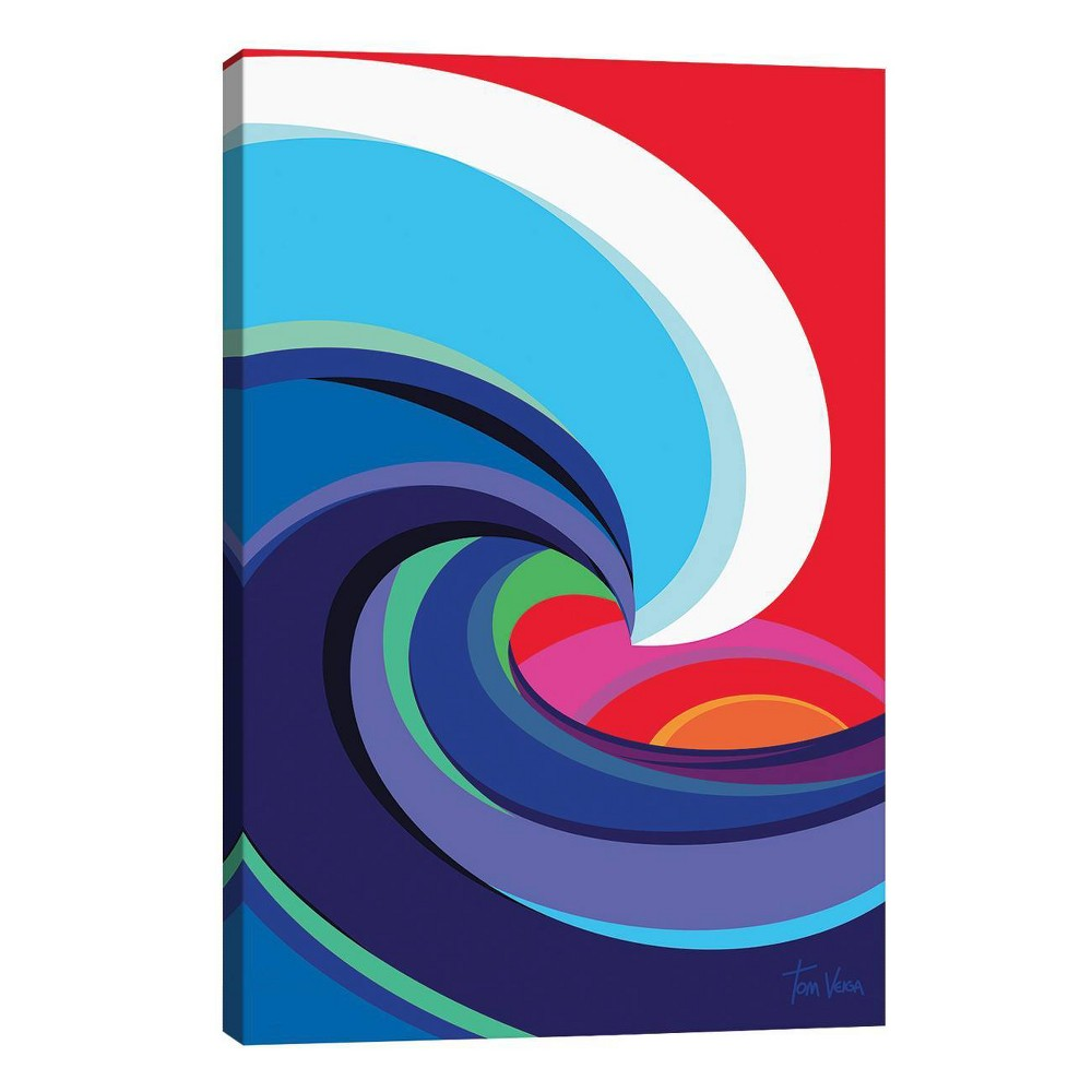 26 34 X 18 34 Big Wave By Tom Veiga Unframed Wall Canvas Print Icanvas