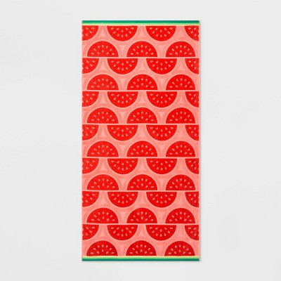 Watermelon Slices Beach Towel XL Coral - Sun Squad™