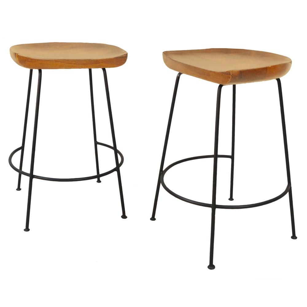 "Image of ""24.5"""" Bryson Counter Stool Natural/Black - Carolina Chair & Table"""