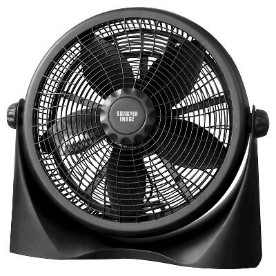 Sharper Image 16  Floor Fan - Black