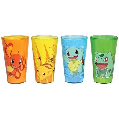 Just Funky Pokemon Character Pack Pint Glasses, 4-Pack