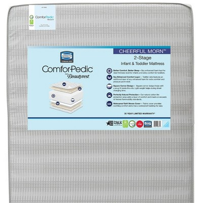 Simmons Kids' Comforpedic from Beautyrest Dual Sided Crib/Toddler Mattress- Gray