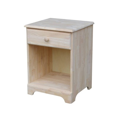 Nightstand Unfinished - International Concepts - image 1 of 4