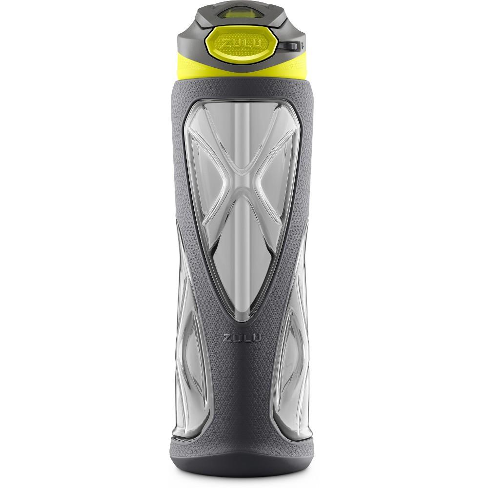 Zulu Vapor 24oz Bpa-Free Plastic Water Bottle with Flip Straw - Gray