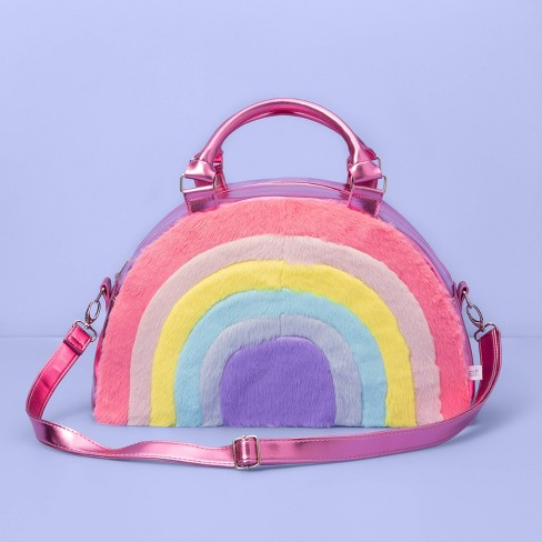 Girls' Rainbow Carry On Weekender Bag - More Than Magic™ Pink - image 1 of 2