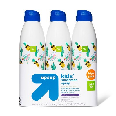 Continuous Kids Sport Sunscreen Spray - 3pk - SPF 50 - 16.5oz - Up&Up™