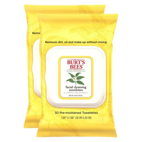 Burt's Bees Facial Cleansing Towelettes with White Tea Extract - 2 pack - image 1 of 1