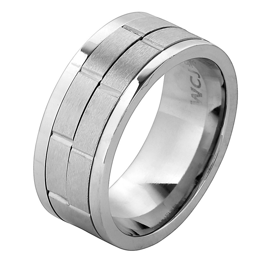 Men's West Coast Jewelry Stainless Steel Dual Spinner Ring (11), Silver