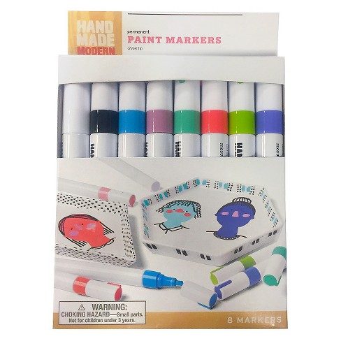 8pk Paint Markers Hand Made Modern