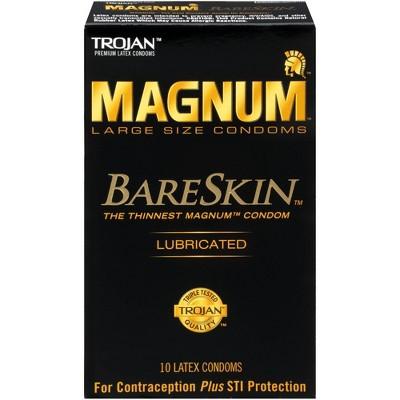 Trojan Magnum Bareskin Lubricated Condoms - 10ct