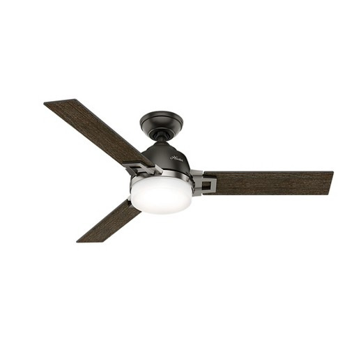 """48"""" Leoni Noble Bronze and Brushed Nickel Ceiling Fan with Light with Handheld Remote - Hunter Fan - image 1 of 4"""