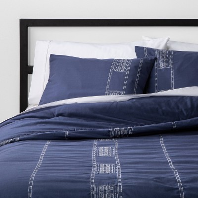 Embroidered Stripe Duvet Cover & Sham Set - Project 62™