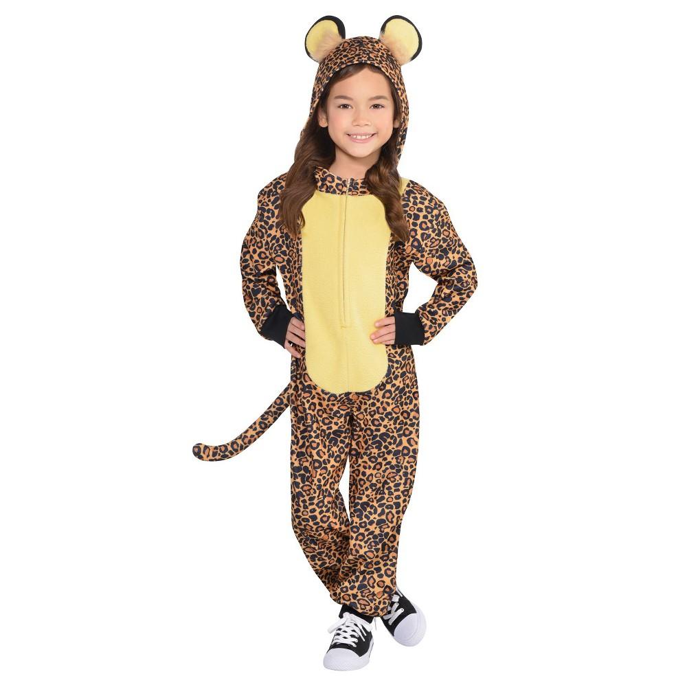 Kids' Leopard Zipster Halloween Costume M, Kids Unisex, Multicolored
