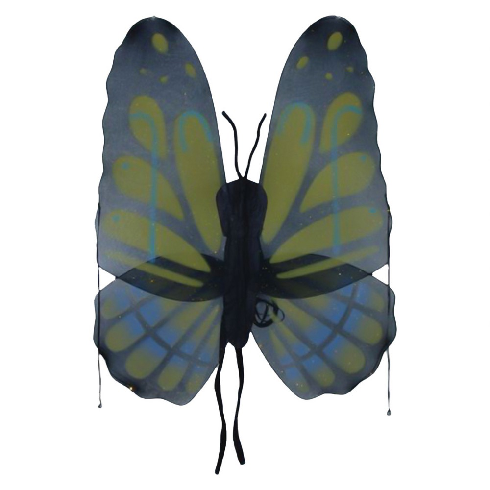 Image of Butterfly Wings Yellow Green - One Size