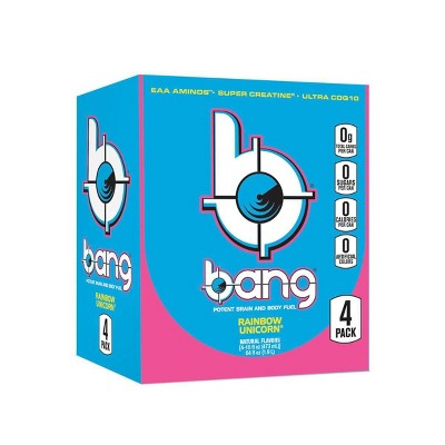 BANG Rainbow Unicorn Energy Drink - 4pk/16 fl oz Can