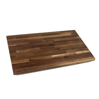 John Boos High Quality Solid Walnut Wood Kitchen Countertop Cutting Board Tabletop Butcher Block Charcuterie Serving Tray, 24 x 25 x 1.5 Inches
