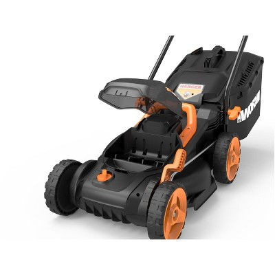 "Worx WG779.9 14"" Cordless Mower, 40V Li-ion Compatible, Bag and Mulch, Intellicut, Compact Storage (Tool Only)"